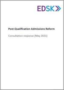 POST-QUALIFICATION ADMISSIONS REFORM